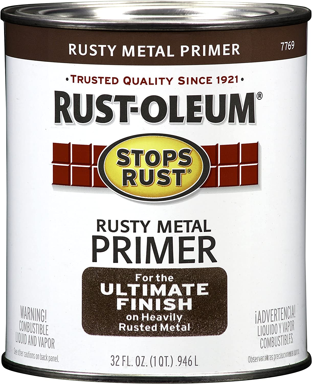 Rust-Oleum 7769502 Enamel Paint 32-Ounce, Flat Rusty Metal Primer