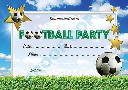 16 x Boys Birthday Invite Party Invitations With Amazoncouk
