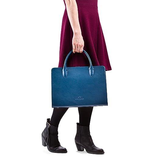 OFFERMANN Handtasche Ledertasche Workbag Shape 8 Liter dunkelblau:  Amazon.de: Bürobedarf & Schreibwaren
