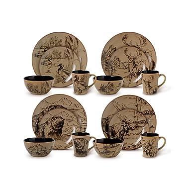 Mossy Oak 16-Piece Break-Up Infinity Dinnerware Set, Service for 4