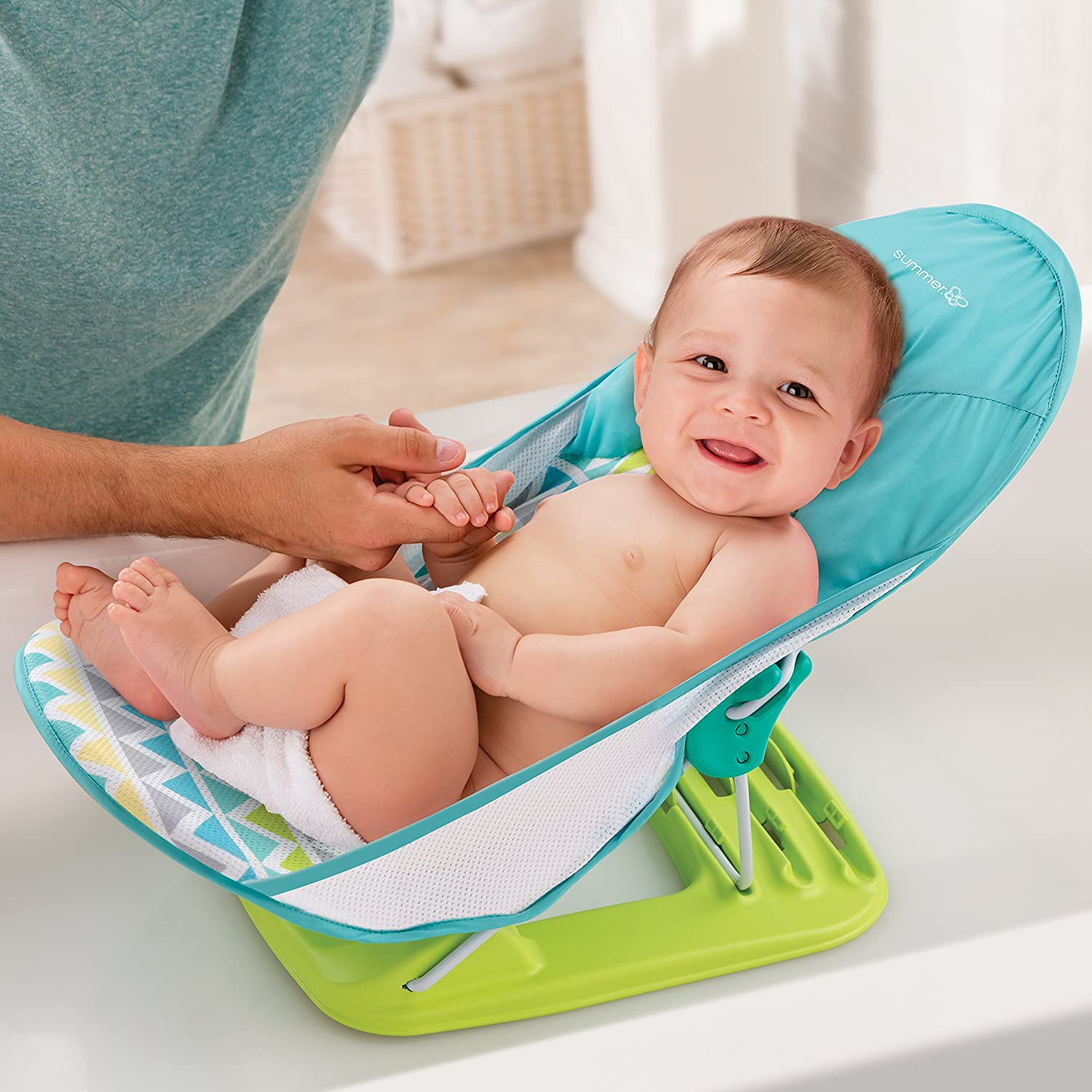 Amazon.com : Summer Infant Deluxe Baby Bather, Triangle Stripe : Baby