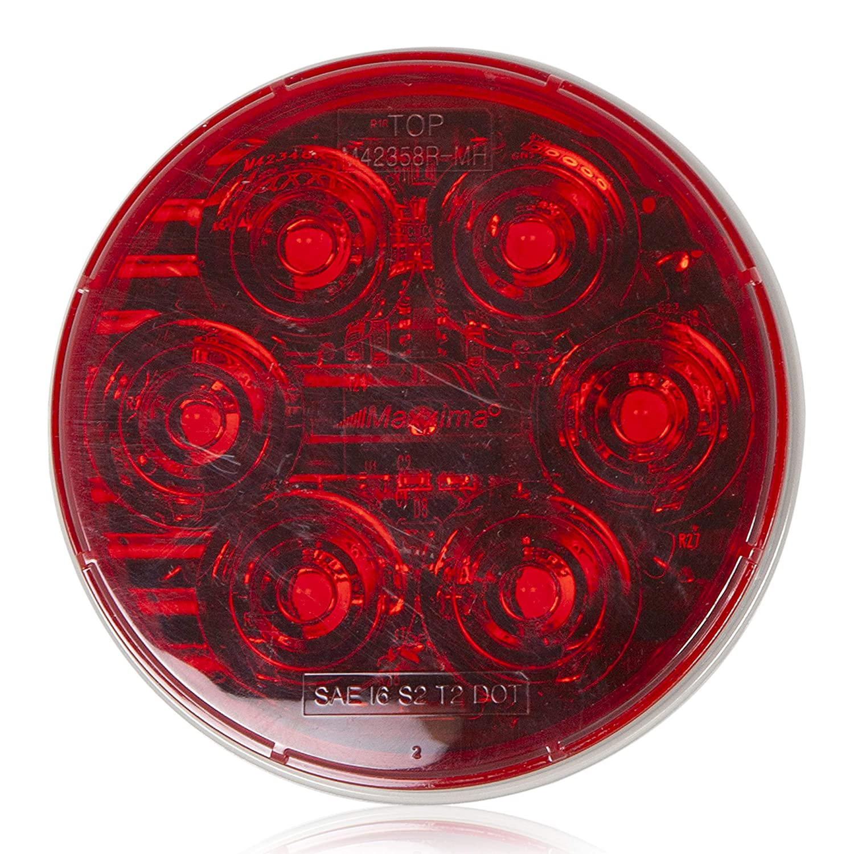 Maxxima M42358R-MH 6 LED Red 4 Round Stop//Tail//Turn MaxxHeat Lens