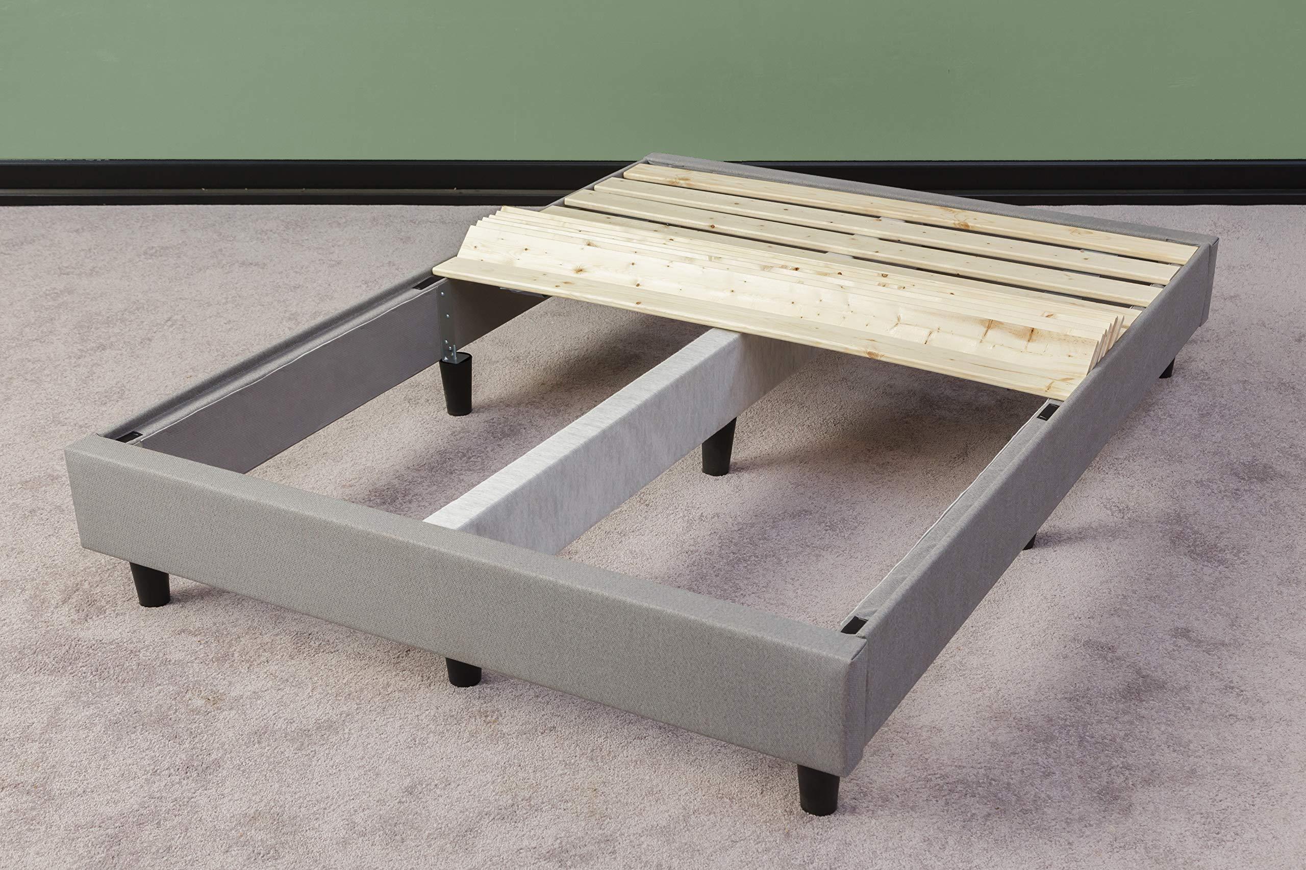 Spring Solution, 1.5-inch Heavy Duty Mattress Support Wooden Bunkie Board / Slats, QueenSize