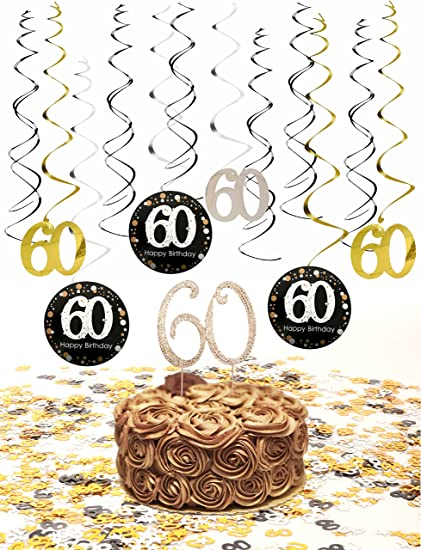 60th Birthday Party Supplies Table Confetti 108oz Decorations