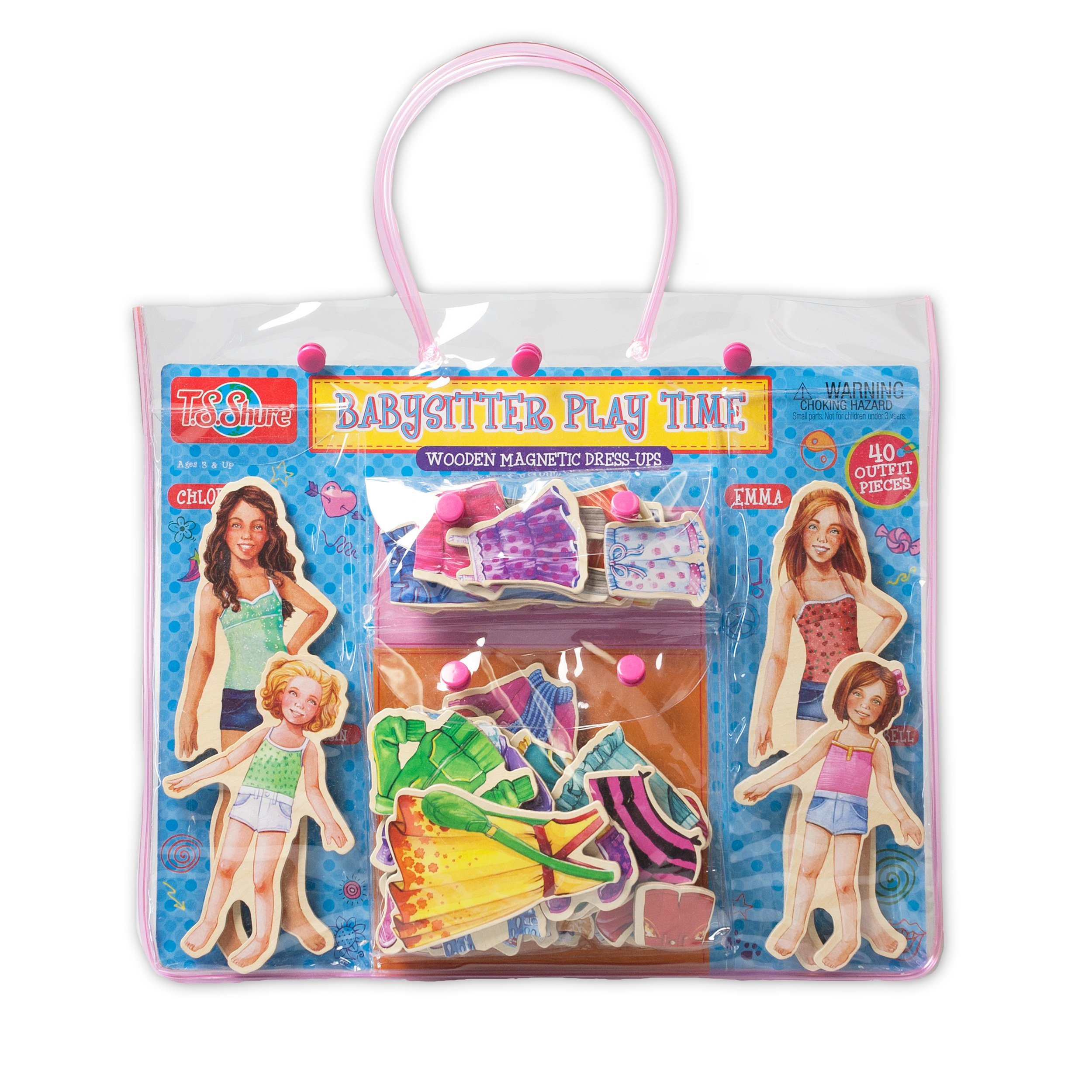 T.S. Shure Babysitter Play Time Wooden Magnetic Dress-Up Doll by T.S. Shure