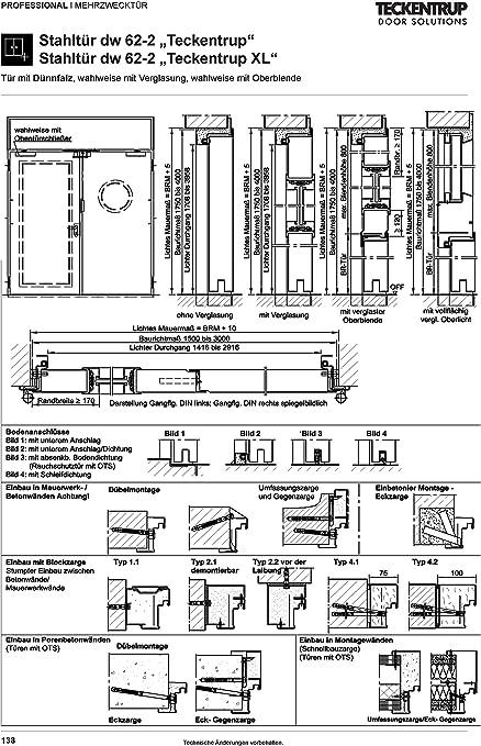 Hallent/ür 2 2000x2500 rechts ged/ämmt 62 mm Mehrzweckt/ür Garagent/ür fl/ügelig von Teckentrup