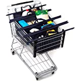 Reusable Grocery Bags and shopping Cart Bags (4), Trolley Bags, Eco Friendly, Heavy Duty Double Stitched Seam