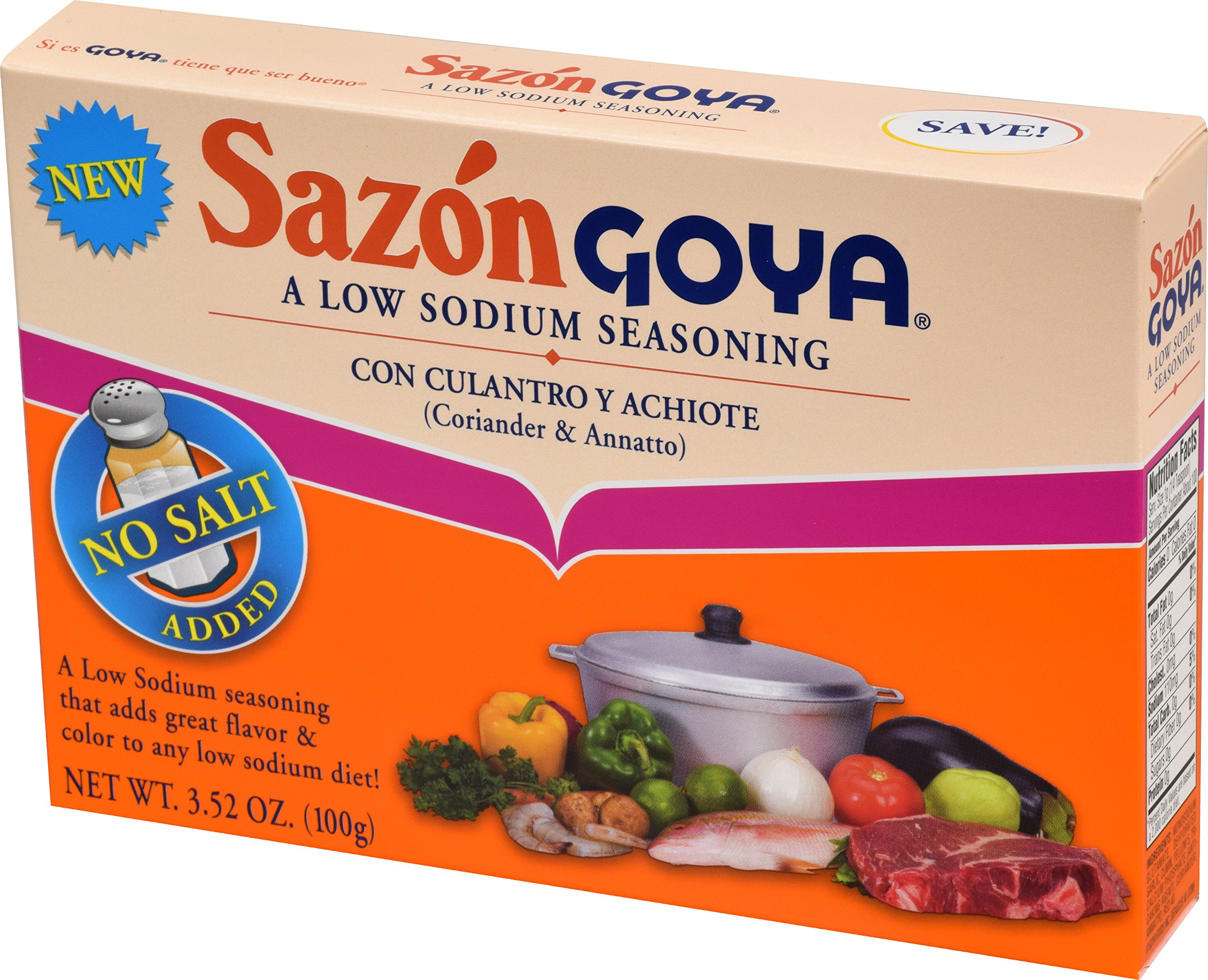 Goya Foods Sazon Coriander & Annatto Low Sodium, 3.52 Ounce (Pack of 18) by Goya (Image #4)