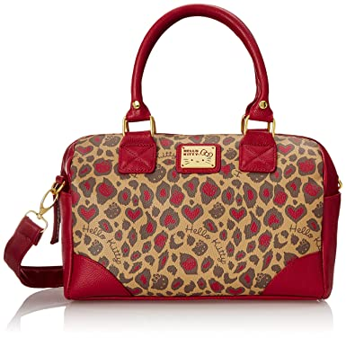 651a6ecb0 Hand Bag - Hello Kitty - Berry and Brown Leopard Mini Convertible  santb1320: Amazon.co.uk: Clothing