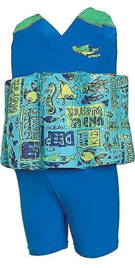 Zoggs Bañador con Flotador para Aprender a Nadar para niños, mar Profundo, de la