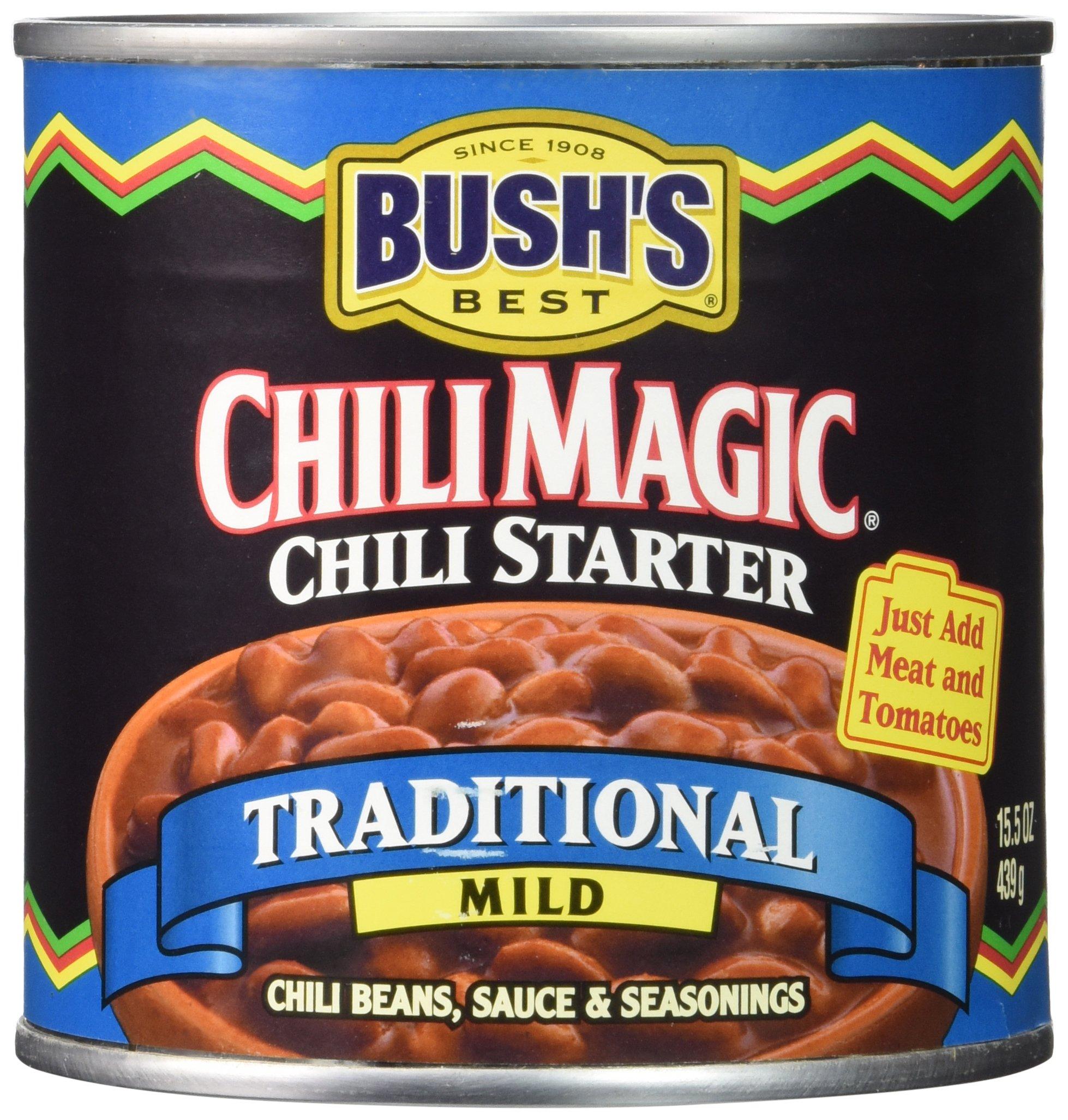 Bush's Best Chili Magic Traditional Mild Chili Starter (Case of 12)
