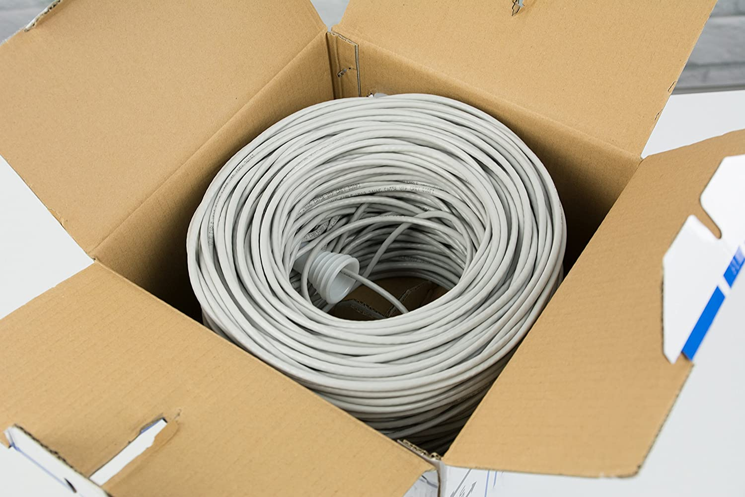 New 500 Ft Bulk Cat5e Ethernet Cable Wire Utp Pull Box Internet Wiring 500ft Cat 5e Grey Vivo V002 Computers Accessories