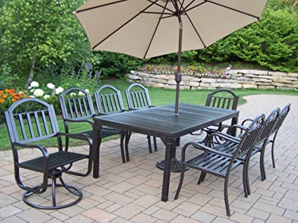 3d62528f2a29 Image Unavailable. Image not available for. Color  Oakland Living Rochester  11-Piece 80 by 40-Inch Dining Set ...
