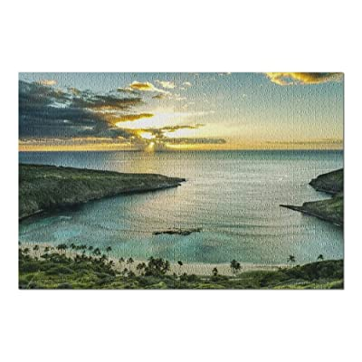 Hanauma Bay Hawaii at Sunset 9002906 (Premium 1000 Piece Jigsaw Puzzle for Adults, 20x30, Made in USA!): Toys & Games