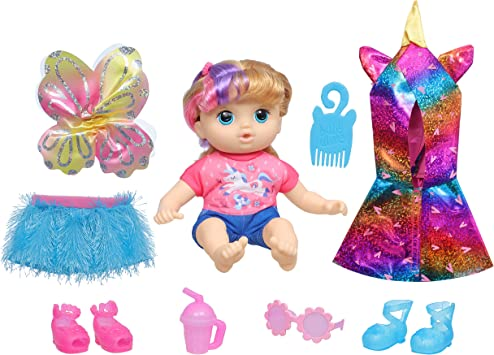 Littles by Baby Alive, Fantasy Styles Squad Doll, Little Kiera, Fairytale Accessories, Wavy Blonde Hair Toy for Kids Ages 3 Years and Up (Amazon Exclusive)