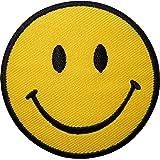 Parche bordado termoadhesivo emotico sonrisa