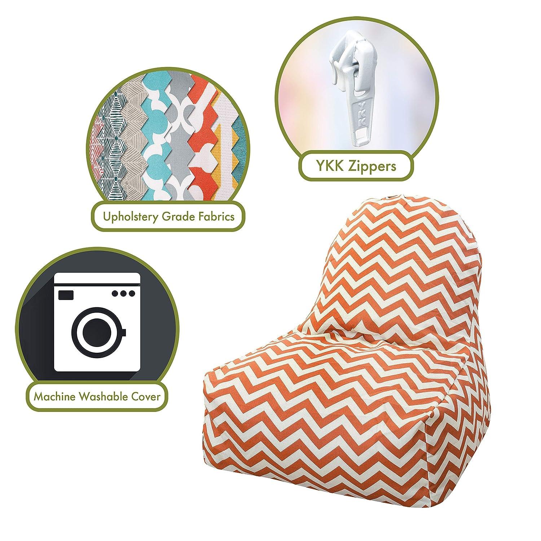 Amazon.com: Majestic Home Goods KICK-IT silla, Chevron ...