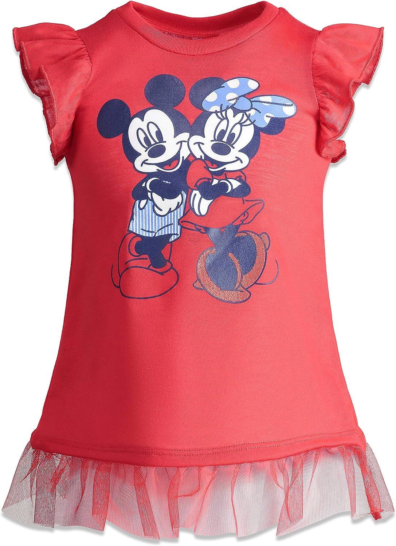 Disney Minnie Mouse Girls High-Low Tunic /& Twill Shorts Set