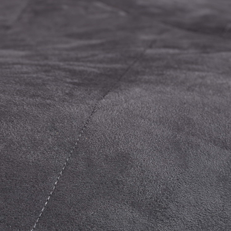 Poli/éster Gris Oscuro 75 x 100 x 90 cm Relaxdays Puff Cuadrado XXL con Relleno