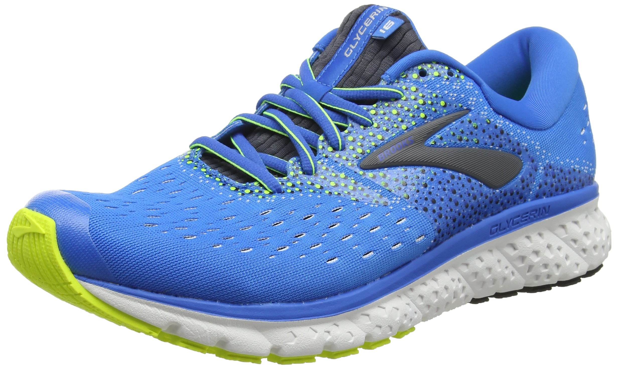 dd5488bfa7fd6 Galleon - Brooks Mens Glycerin 16 - Blue Ebony Nightlife - D - 8.5