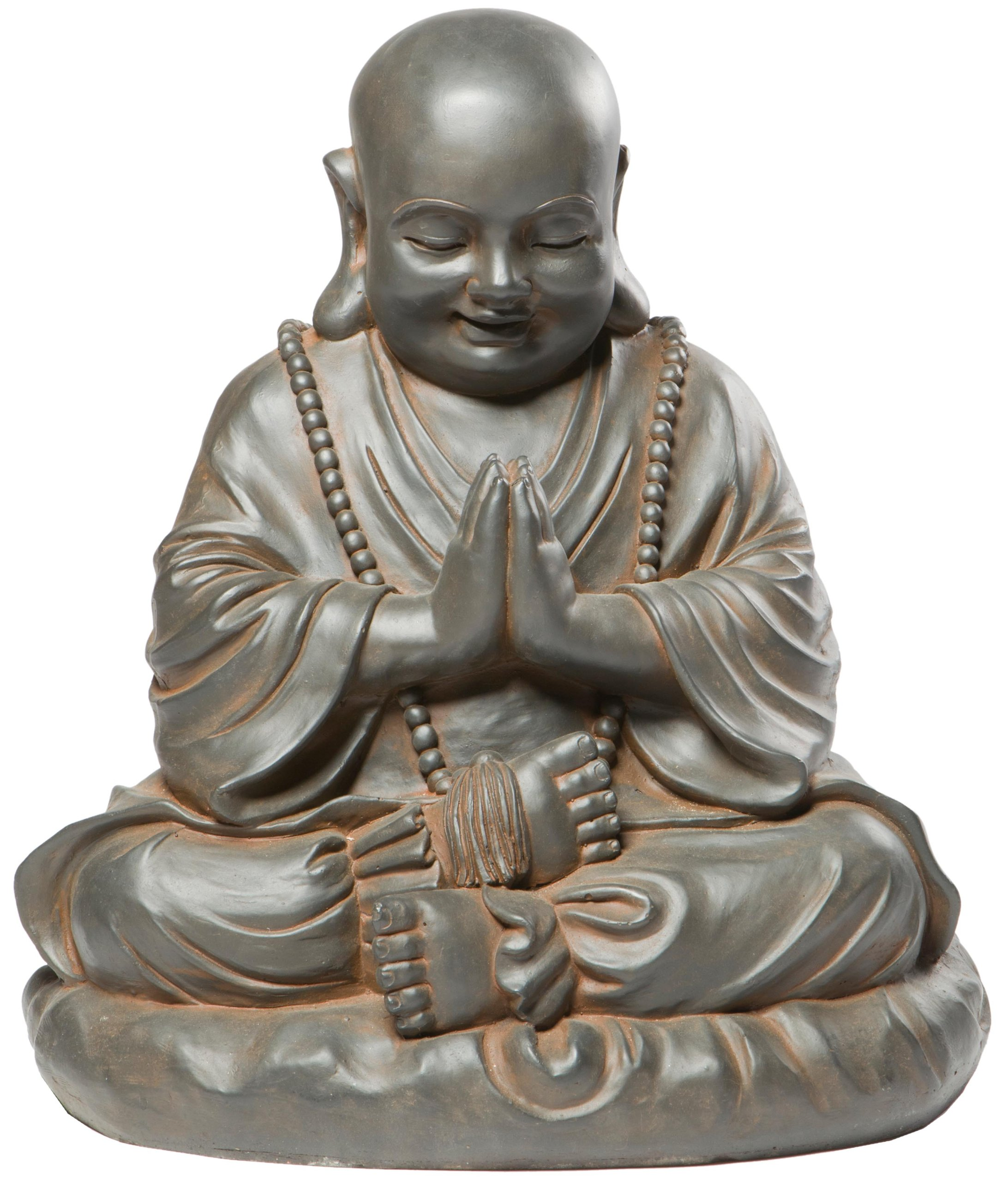 Alfresco Home Seated Buddha Statuary, Black Rust