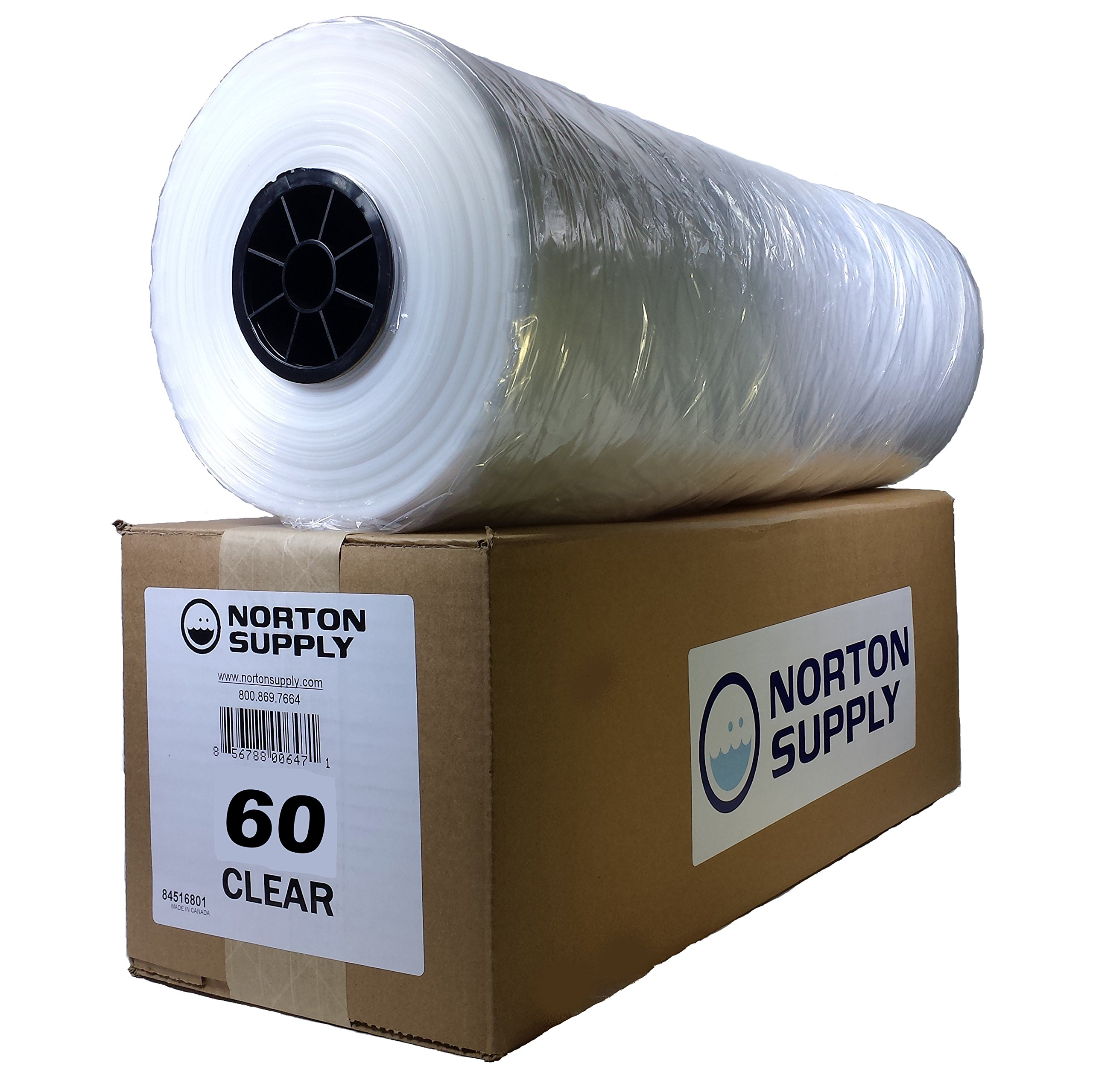 Norton Supply Dry Cleaning Poly Bags - 60'', 100 Gauge