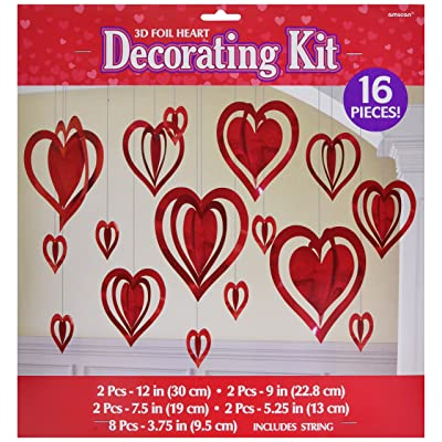 Amscan 249525 Party Kits Decors Item, Multi Sizes, Red: Kitchen & Dining
