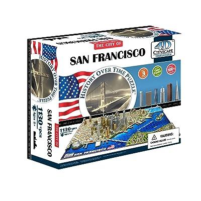 4D Cityscape San Francisco USA Puzzle: 4DCityscapeInc: Toys & Games