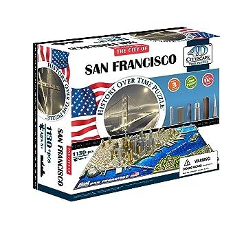 4D Cityscape San Francisco USA Puzzle 4D 立体城市拼图 旧金山