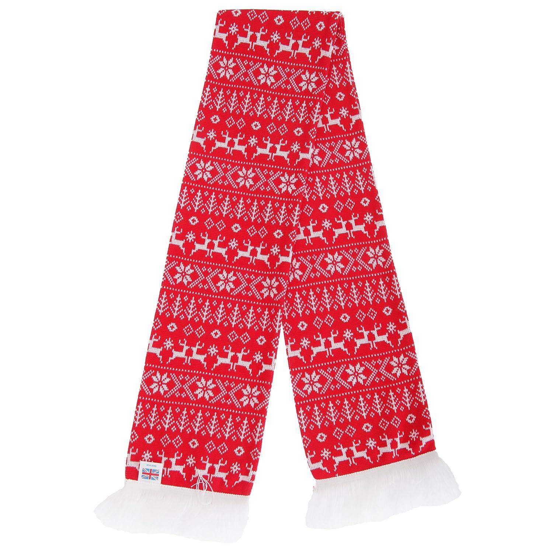 Floso - Bufanda de invierno Diseño Navideño con flecos UTSK266_4