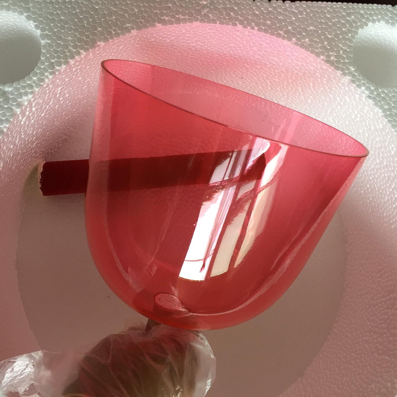 4/° ottava circa 17 cm colore rosso cristallo campana tibetana perfetto chakra della radice C nota per la terapia del suono 440 Hz standard.