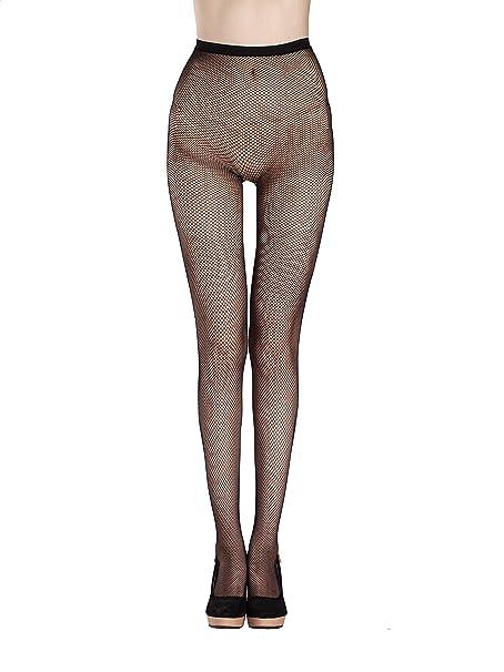 004605f10 Deksias Fishnet Stockings Pantyhoses Hosiery Black Seamless Mesh Tights for  Women 3 styles (Small Mesh