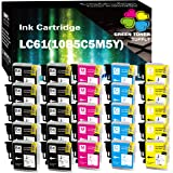 (25 Pack) GTS Compatible LC61 Inkjet Cartridge Replacement for Brother All-in-One DCP-165C DCP-385C DCP-585CW MFC-290C…