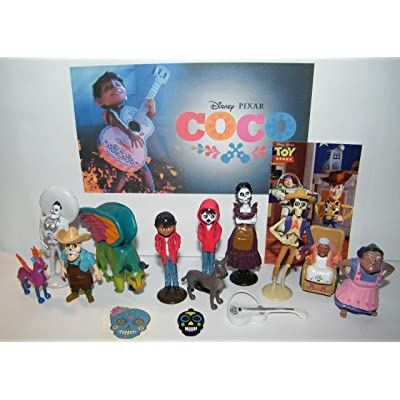 B. B. Inc Disney Coco Movie Deluxe Party Favors Goody Bag Fillers Set of 15 with Figures, Tattoo, Sticker and Charm Featuring Miquel, Spirit Gude Pepita, Papa Julio and More!: Toys & Games