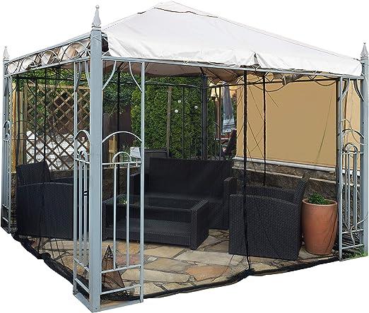 FREILUFTRAUM Mosquitera en forma de caja para cenador, terraza, lodge o balcón, en bolsa de transporte para viajes (300 x 300, negro)