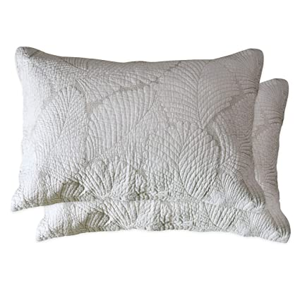 Amazon Brandream Beige Palm Pillow Cases Standard Size Quilted Mesmerizing Decorative Quilted Pillows