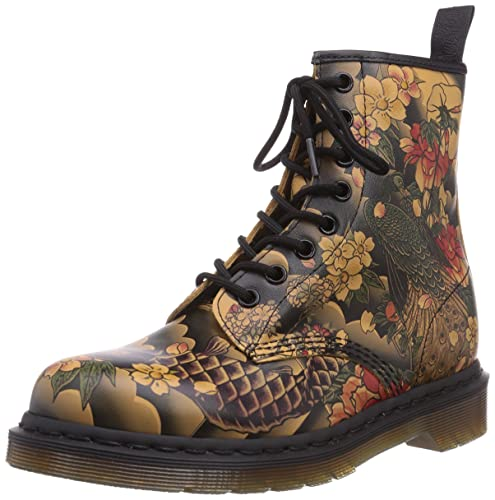 Dr Martens 1460 Tattoo Sleeve Tan Womens Boots