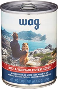 Amazon Brand - Wag Wet Canned Dog Food 12.5/13.2 oz