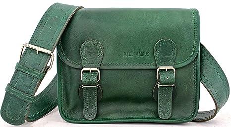 Image Unavailable. Image not available for. Colour  Satchel (S) EMERAUDE  Vintage Leather Satchel Shoulder Bag emerald green PAUL MARIUS ... 49cd5eca15bb5