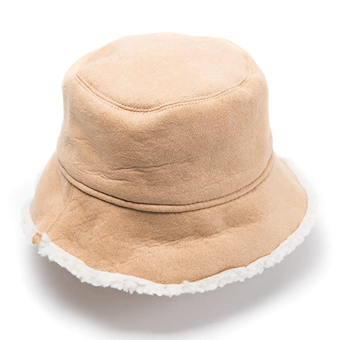Amazon.com  Free Spirit Faux Fur Shearling Bucket Hat for Women   Girls -  Lightweight   Versatile for all Seasons with 2 Colors - Perfect Gift for a  ... f0eee83b6b3