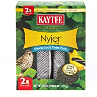 Kaytee Wild Bird Food Nyjer Seed Finch Sock Twin Pack Instant Feeder 26oz