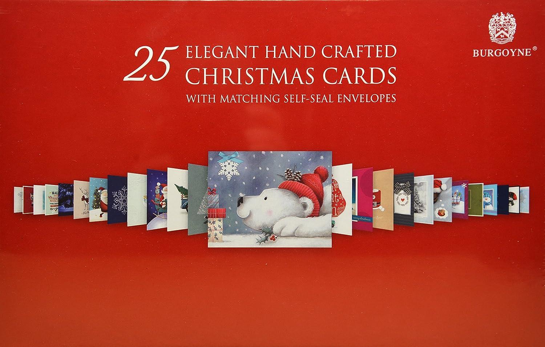 Amazon.com : Burgoyne 25 Elegant Hand Crafted Christmas Cards with ...