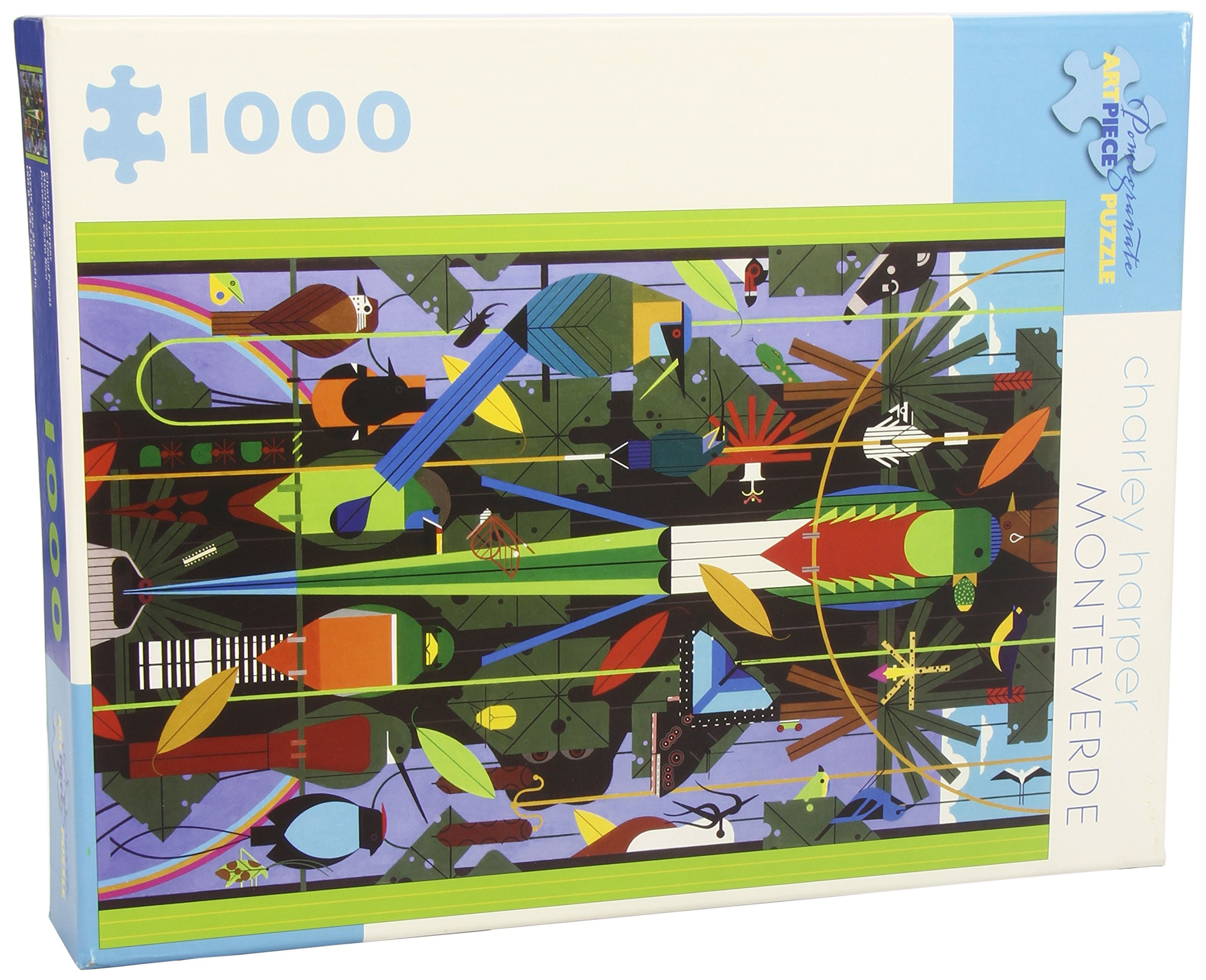 Monteverde 1000-Piece Jigsaw Puzzle Aa665: Amazon.co.uk: Charley Harper:  Books