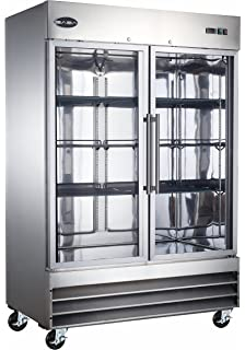 SABA Commercial Reach In Refrigerator, 2 Glass Doors