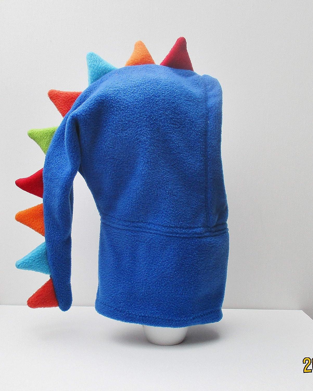 blaue Drachenmütze aus Fleece für coole kids