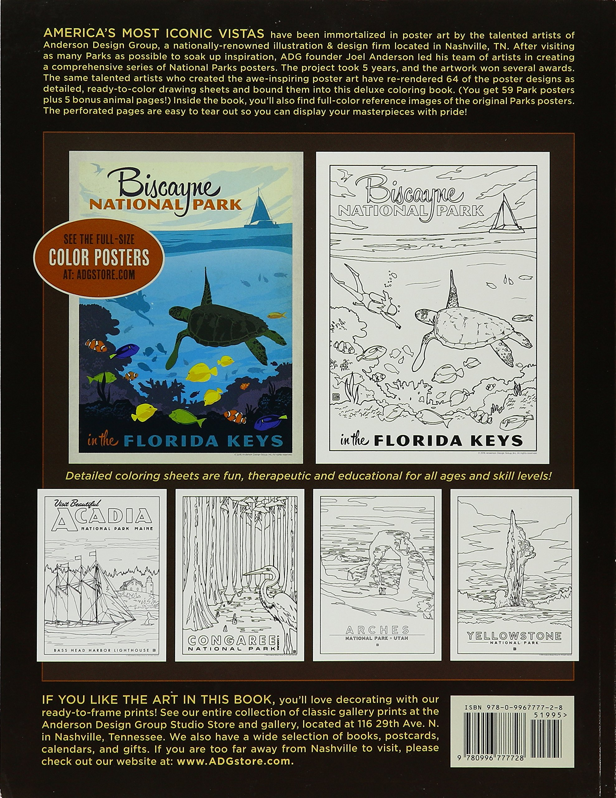 59 illustrated national parks coloring book anderson design group