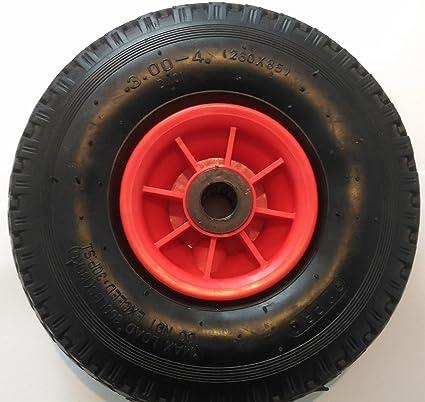 Rueda de repuesto para carretilla, tipo 3.00-4 (2PR), 260 x 85mm: Amazon.es: Industria, empresas y ciencia
