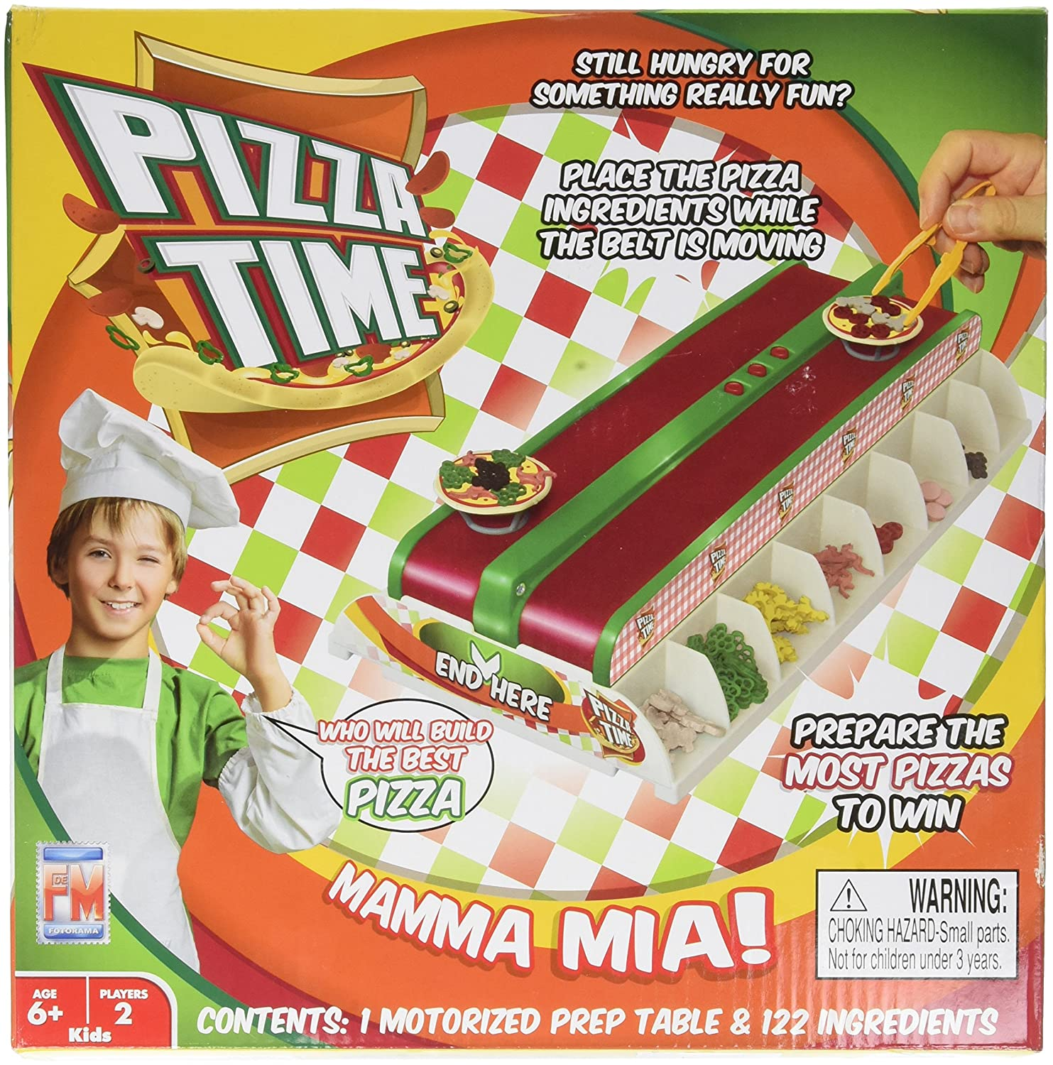 """Fotorama Pizza Time Game, White/Red, 9.5"""" x 2.5"""""""