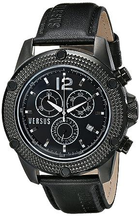 amazon com versus by versace men s soc030014 aventura analog versus by versace men s soc030014 aventura analog display quartz black watch
