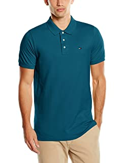 9540beb095bf Tommy Jeans Herren Original Flag Kurzarm Regular Fit Polo Shirt Grau ...
